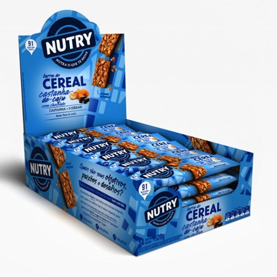 Barra De Cereais Nutry Castanha De Caju Com Chocolate 22gr C/24 - Nutrimental