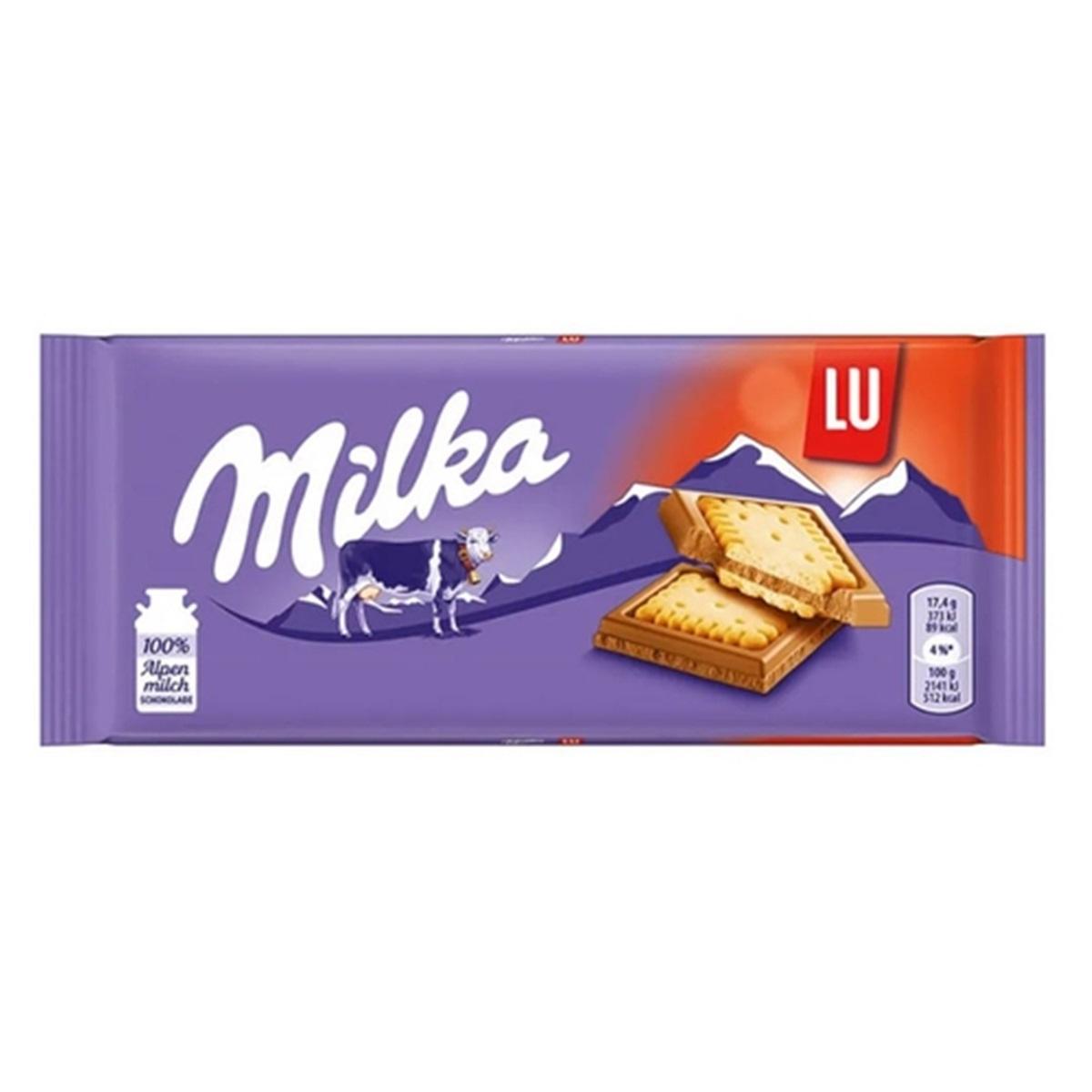 Barra De Chocolate LU 87g - Milka
