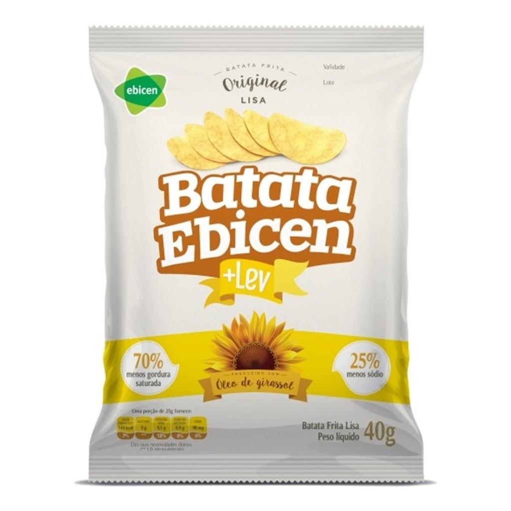 Batata Lisa Óleo de Girassol 40g Ebicen