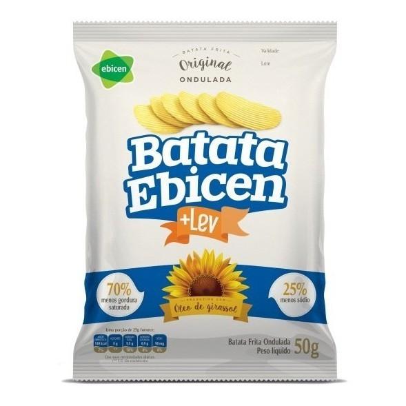Batata Ondulada Óleo De Girassol 40g Ebicen