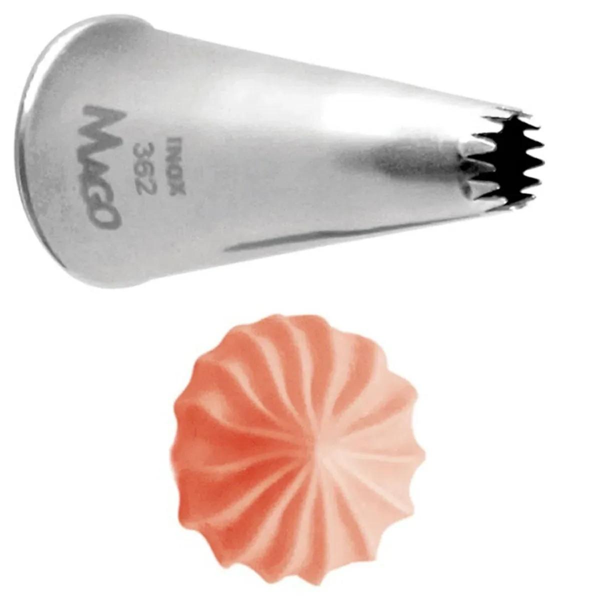 Bico De Confeitar Mago 362 Perlê Original Pequeno