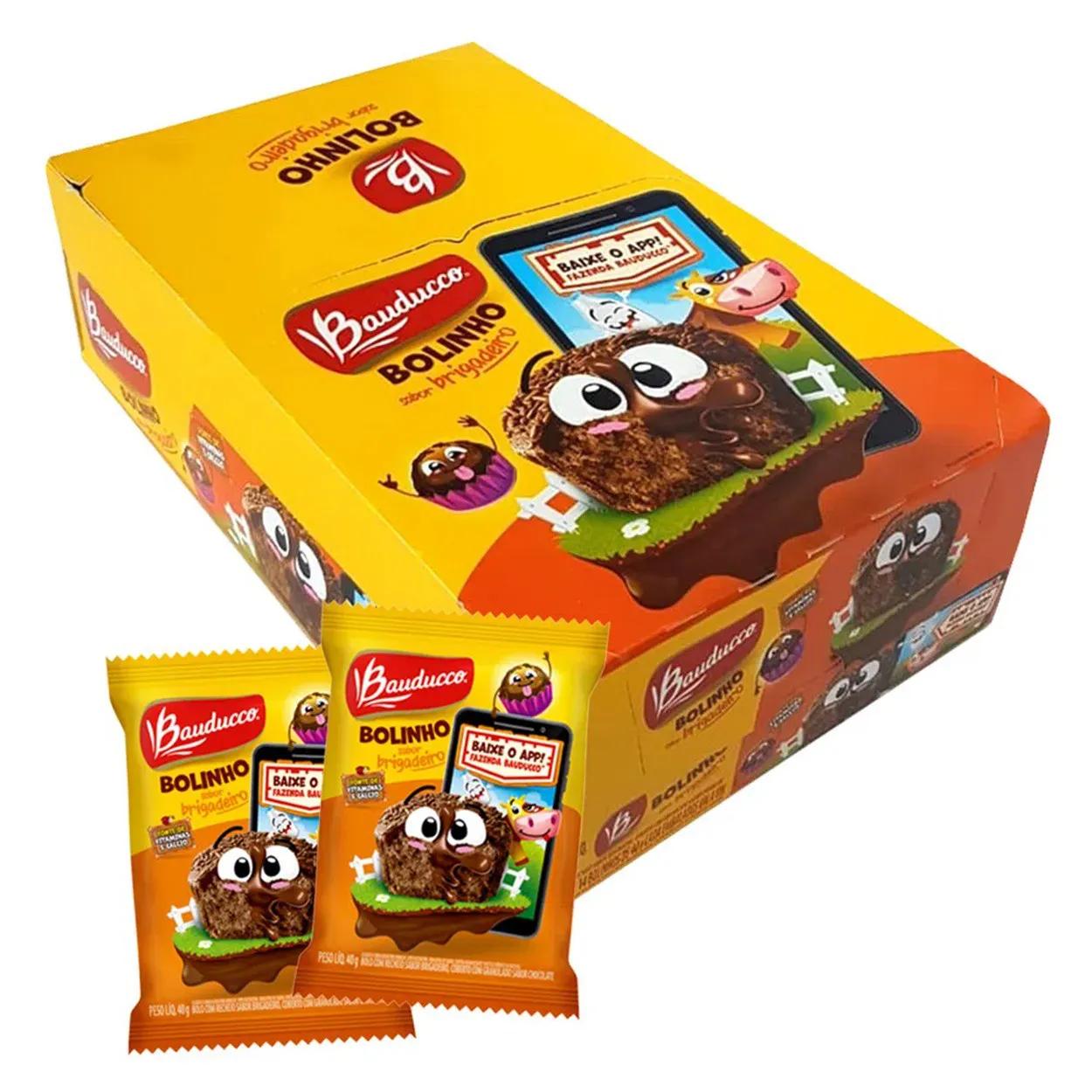 Bolinho Recheio Chocolate Brigadeiro c/14un- Bauducco