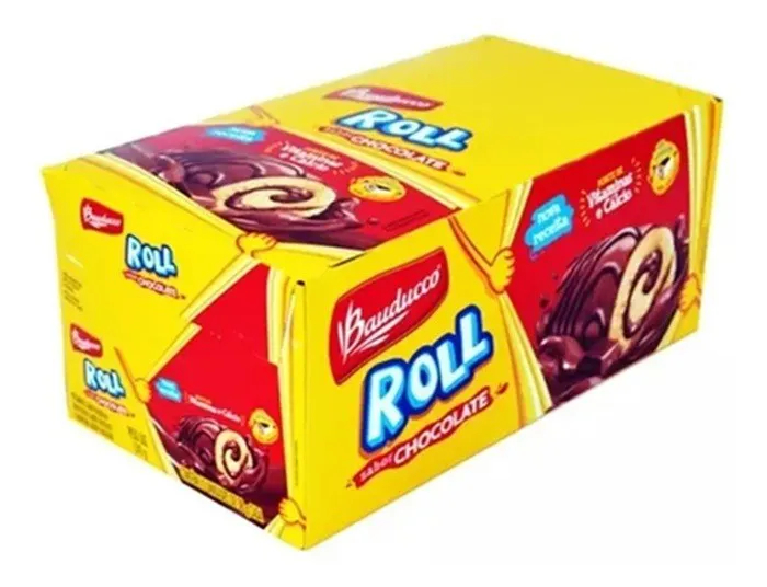 Bolinho Rocambole Roll Chocolate C/15 Un 34g - Bauducco