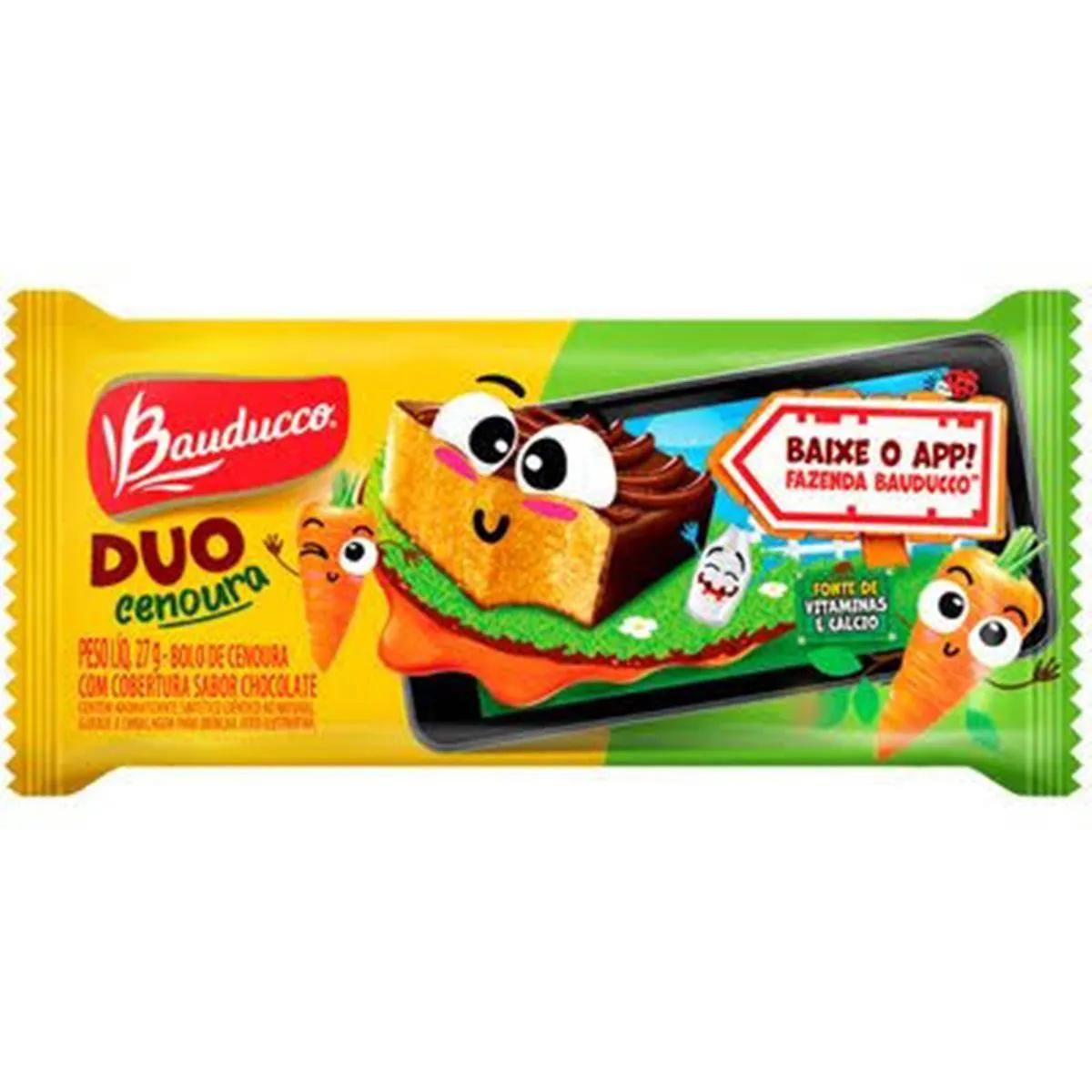 Bolinho Duo Cenoura Com Chocolate C/15un 27g - Bauducco