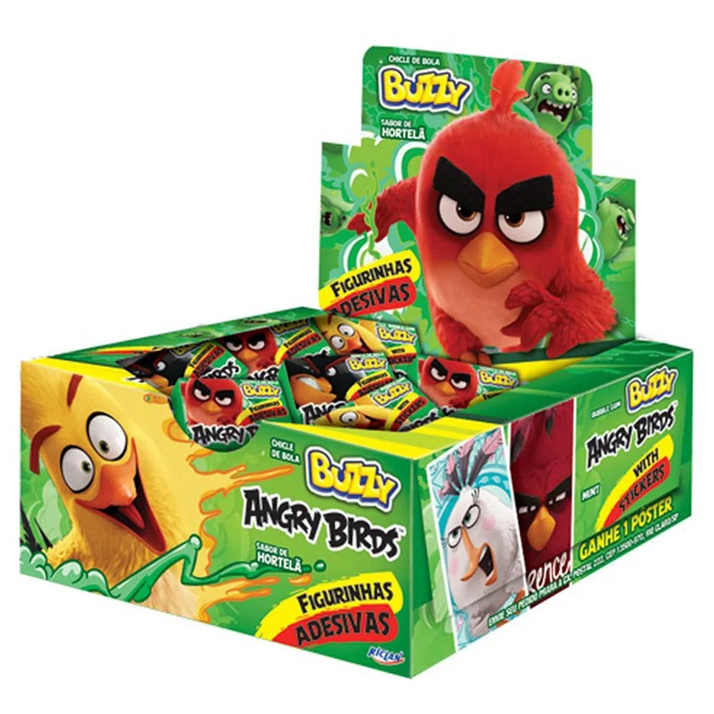 Chiclete Angry Birds Hortelã c/100 - Buzzy