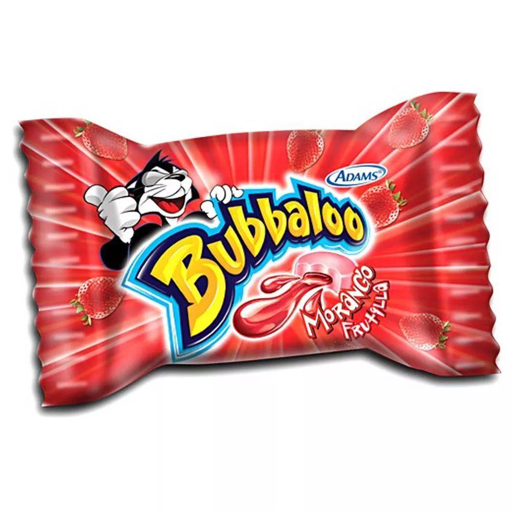 Chiclete Bubbaloo Morango C/60 - Adams