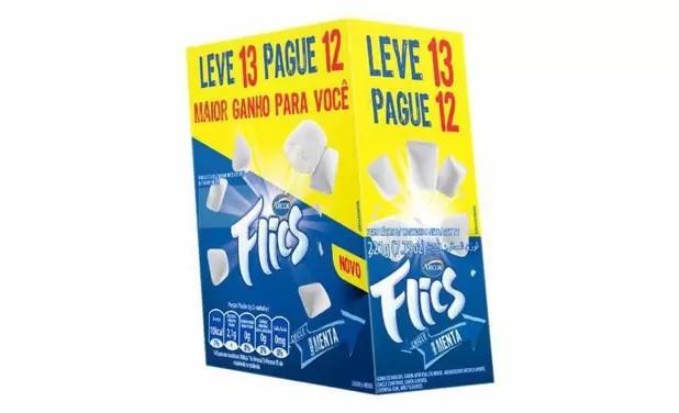 Chiclete Flics Menta c/12 - Arcor