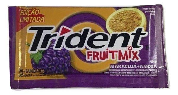 Chiclete Trident FruitMix Maracujá E Amora 8gr C/21 - Adams