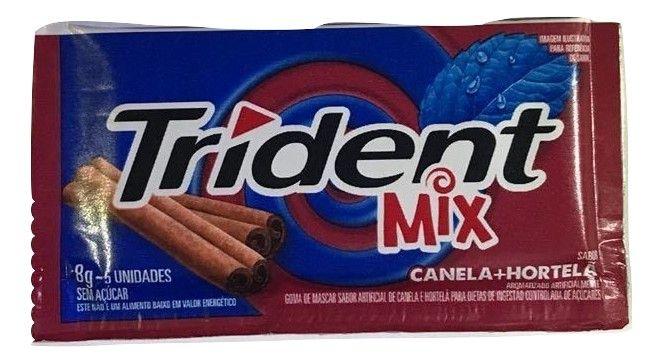 Chiclete Trident Mix Canela E Hortelã 8gr C/21 - Adams