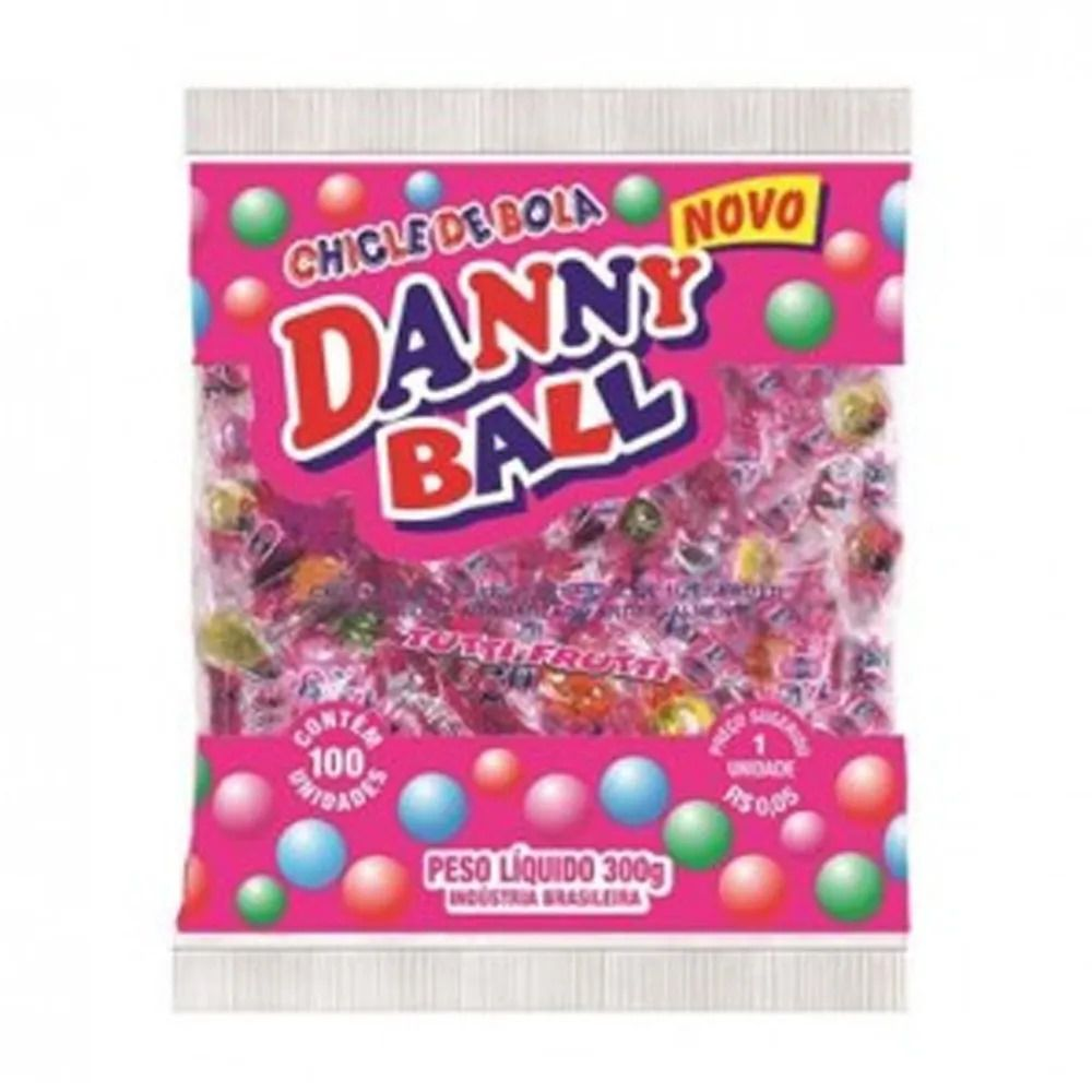 Chiclete Tutti Frutti C/100 - DannyBall