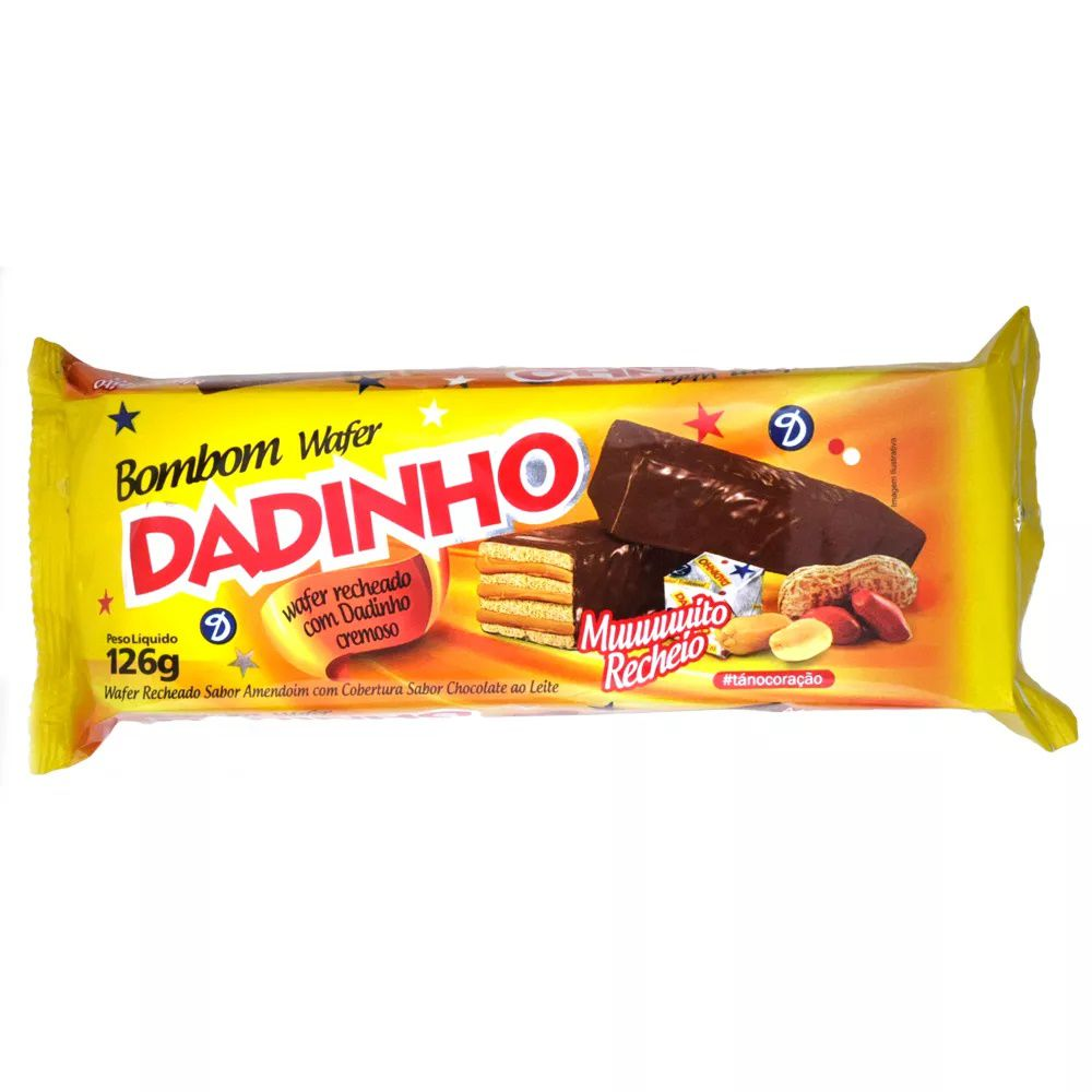 Chocolate Bombom Wafer Dadinho 126G C/14 - Dizioli