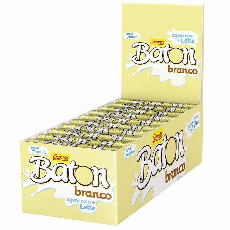 Chocolate Baton Branco 16gr C/30un - Garoto