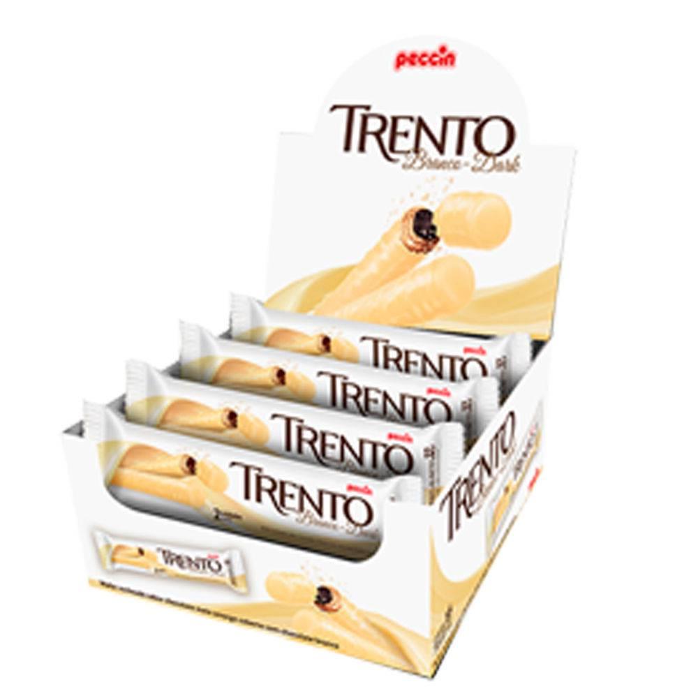 Chocolate Branco Com Wafer Trento Recheio Chocolate C/16 - Peccin
