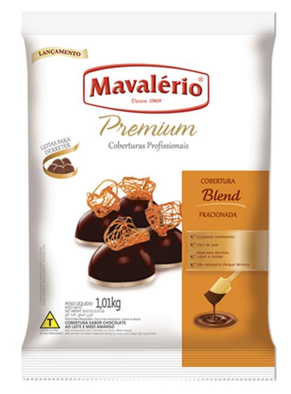 Chocolate Cobertura Gotas Premium Blend 1,01kg Mavalério