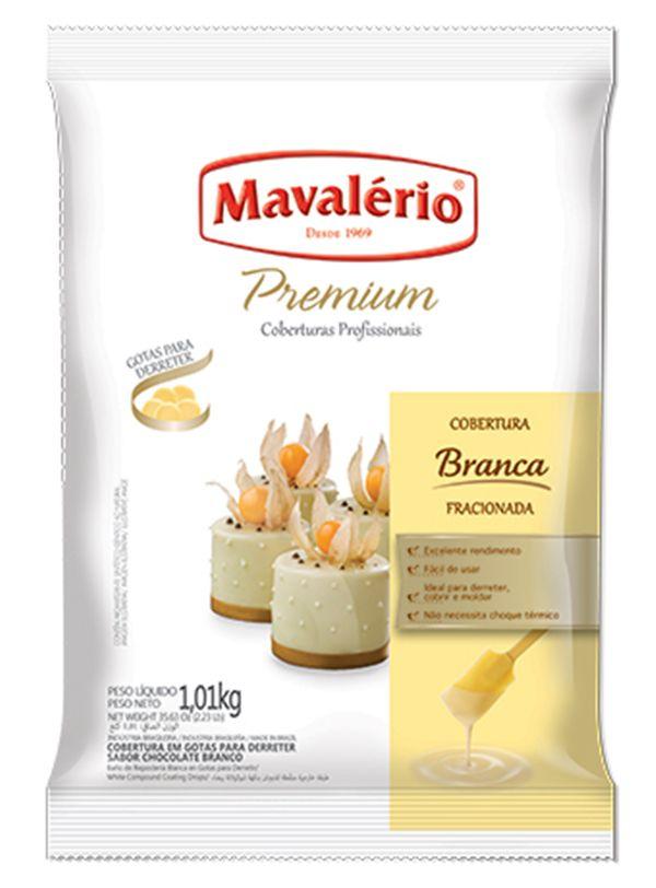 Chocolate Cobertura Gotas Premium Branca 1,01kg Mavalério