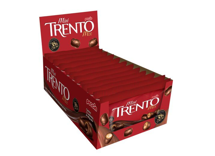 Chocolate Com Wafer Mini Trento Recheio Chocolate C/12 - Peccin