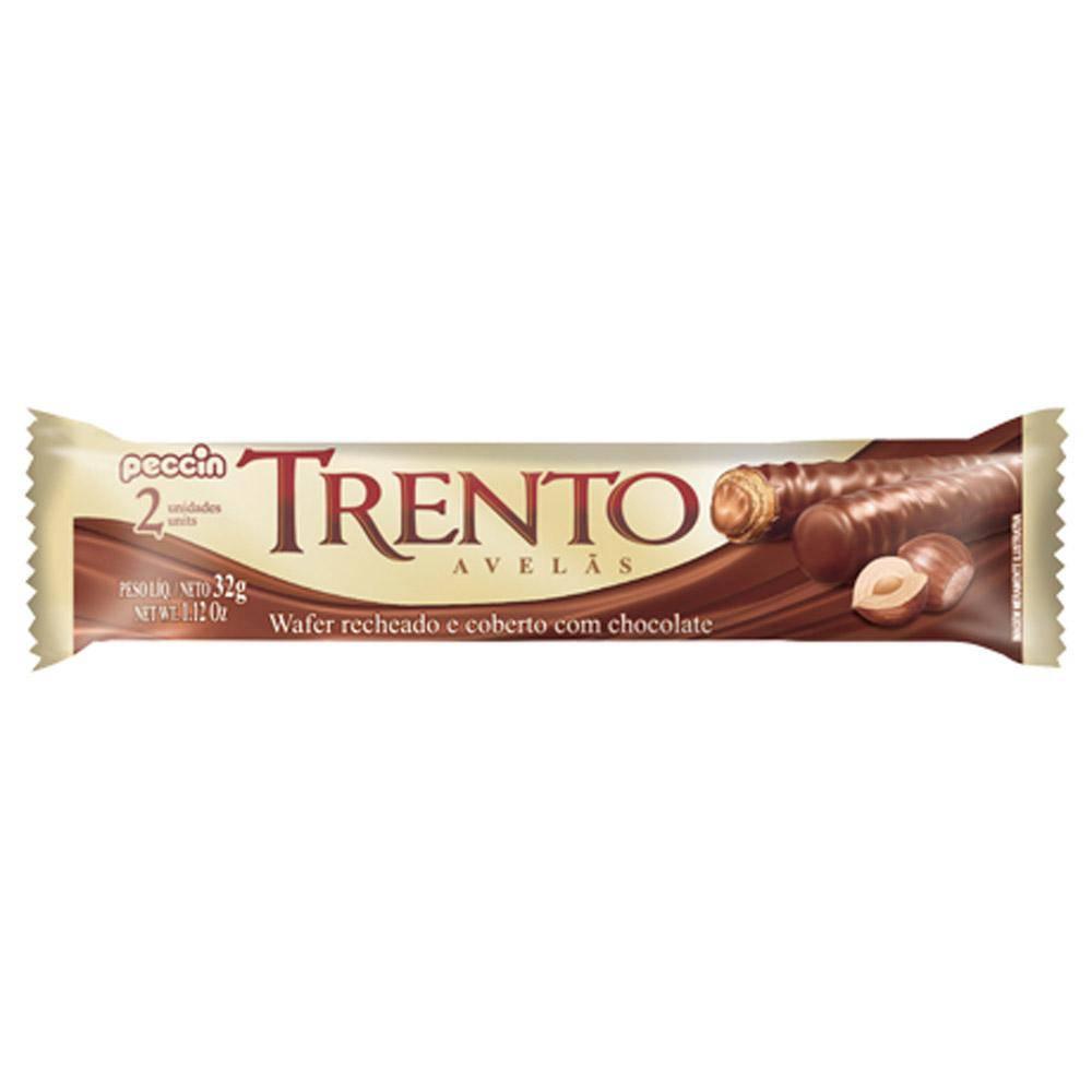 Chocolate Com Wafer Trento Recheio Avelã C/16 - Peccin