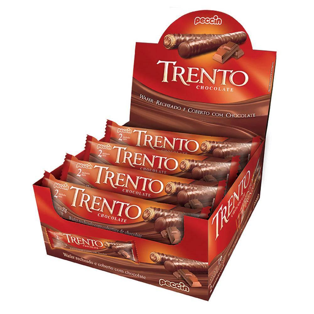 Chocolate Com Wafer Trento Recheio Chocolate C/16 - Peccin