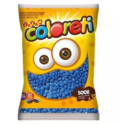 Chocolate Confeito Coloreti Azul 500gr