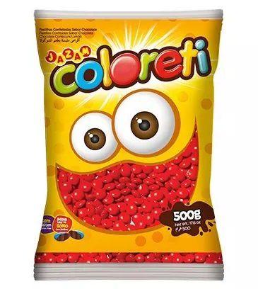 Chocolate Confeito Coloreti Vermelho 500gr