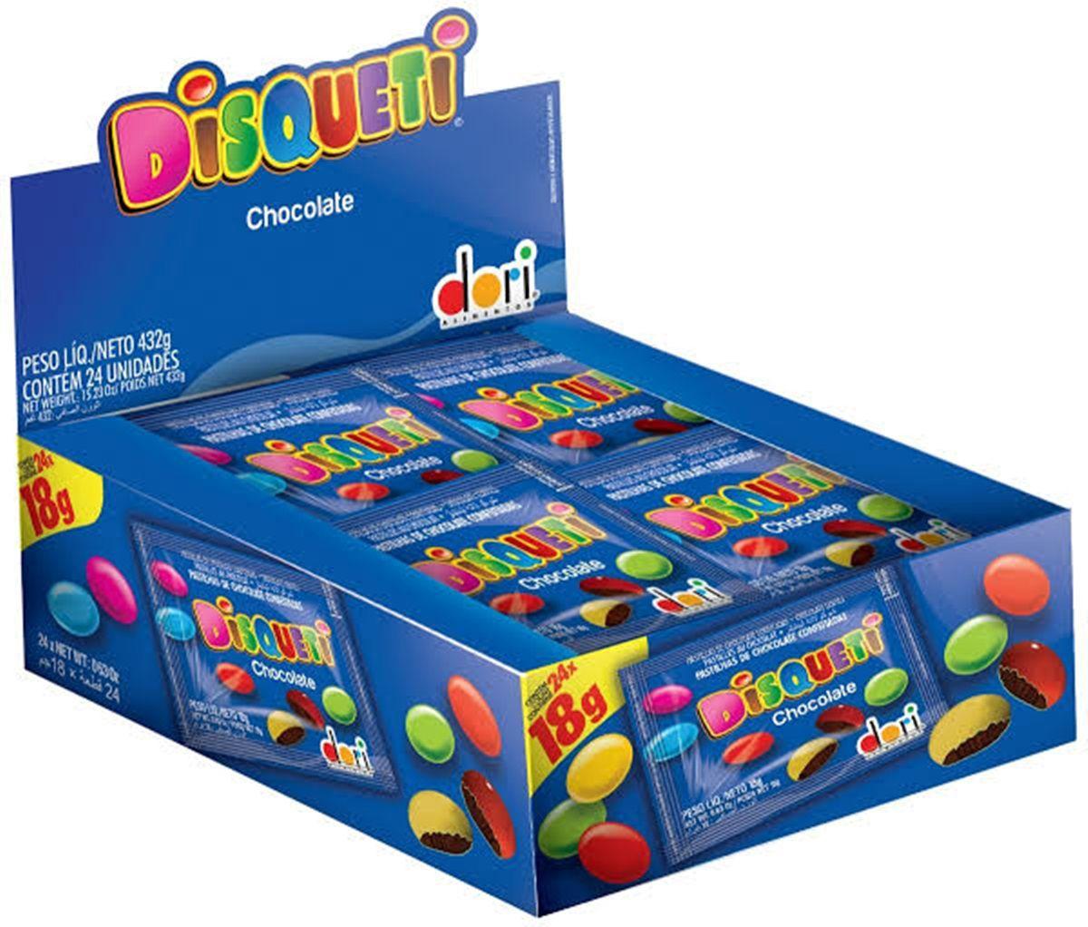 Chocolate Confeito Disqueti18g c/24un  Dori