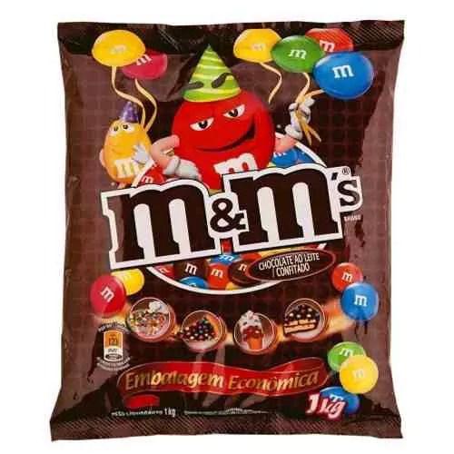 Chocolate Confeito M&Ms Ao Leite 1Kg - Mars