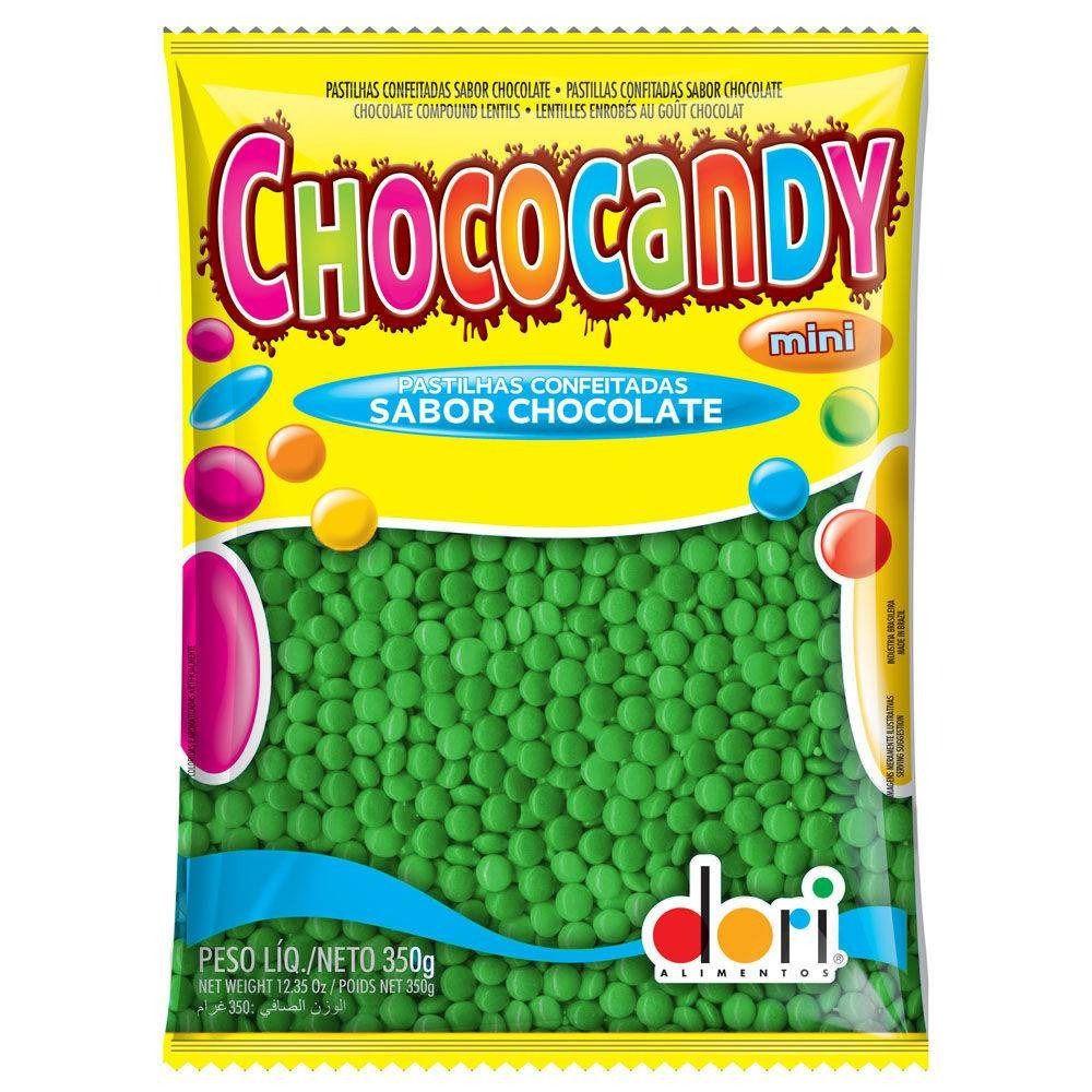Chocolate Confeito Chococandy Verde 350gr - Dori