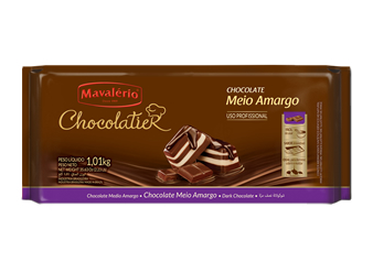 Chocolate Meio Amargo Chocolatier 1,01KG Mavalério
