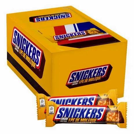 Chocolate Snickers Pé De Moleque 42g c/20un - Mars