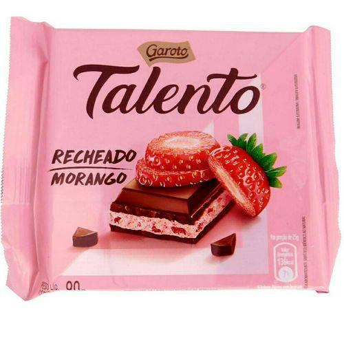 Chocolate Tablete Talento Recheado Morango 90gr C/12 - Garoto