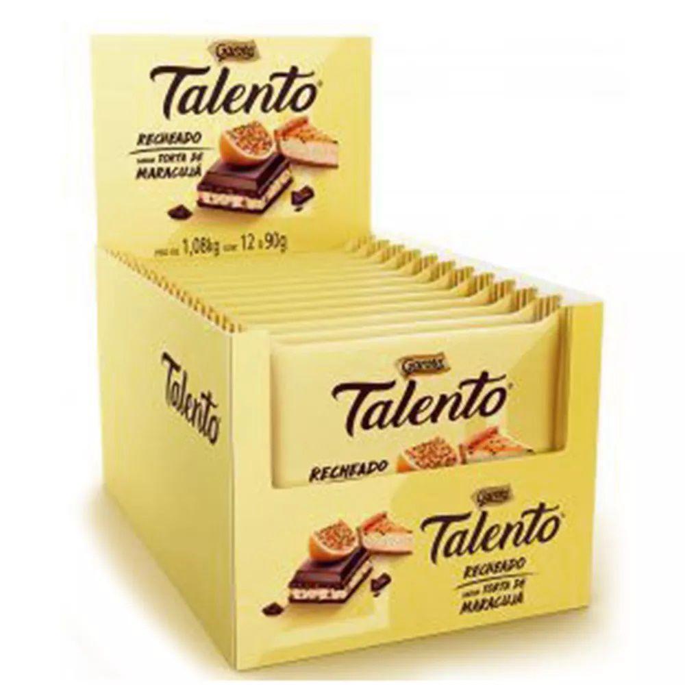 Chocolate Tablete Talento Recheado Torta De Maracujá 90gr C/12 - Garoto
