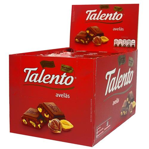 Chocolate Tablete Talento Vermelho Avelãs 90Gr C/12un - Garoto