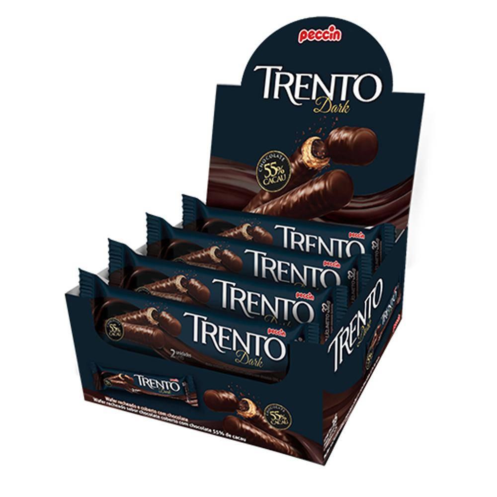 Chocolate Meio Amargo Trento Dark C/16 - Peccin