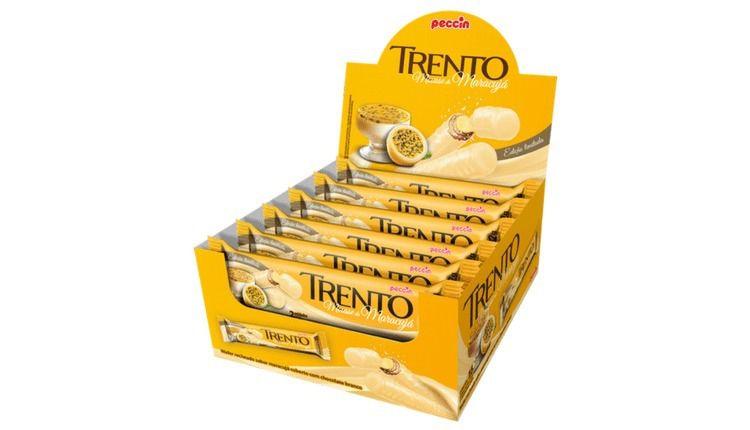Chocolate Branco Trento Mousse De Maracujá C/16 - Peccin