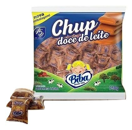 Chup Doce De Leite 15g C/50un - Bi-ba