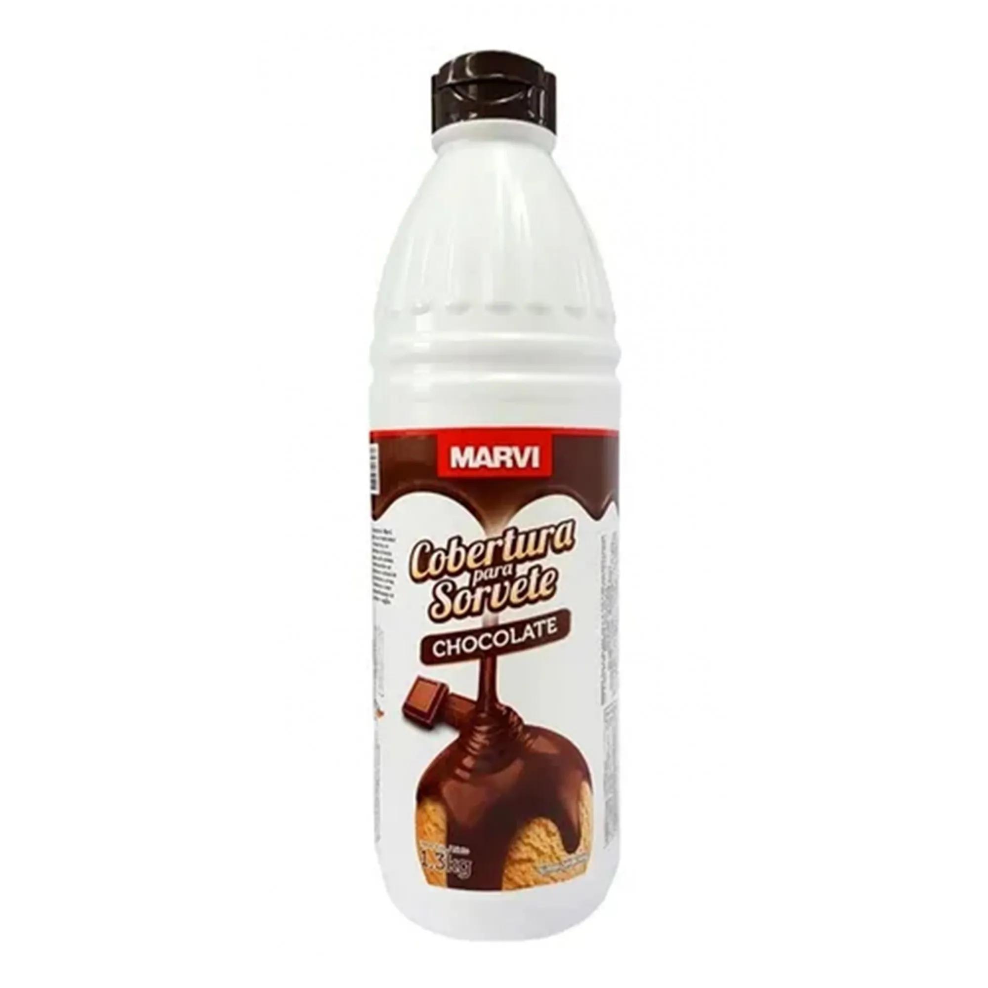 Cobertura Para Sorvete Sabor Chocolate 1,3kg - Marvi