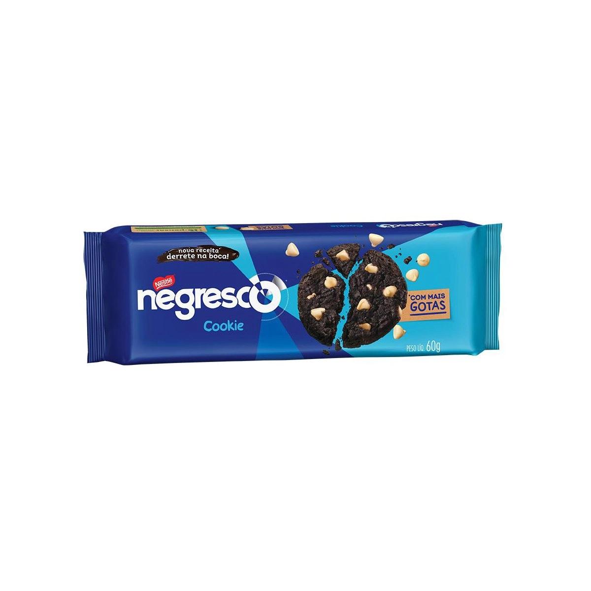 Cookie Chocolate Gotas Baunilha Negresco 60g - Nestlé