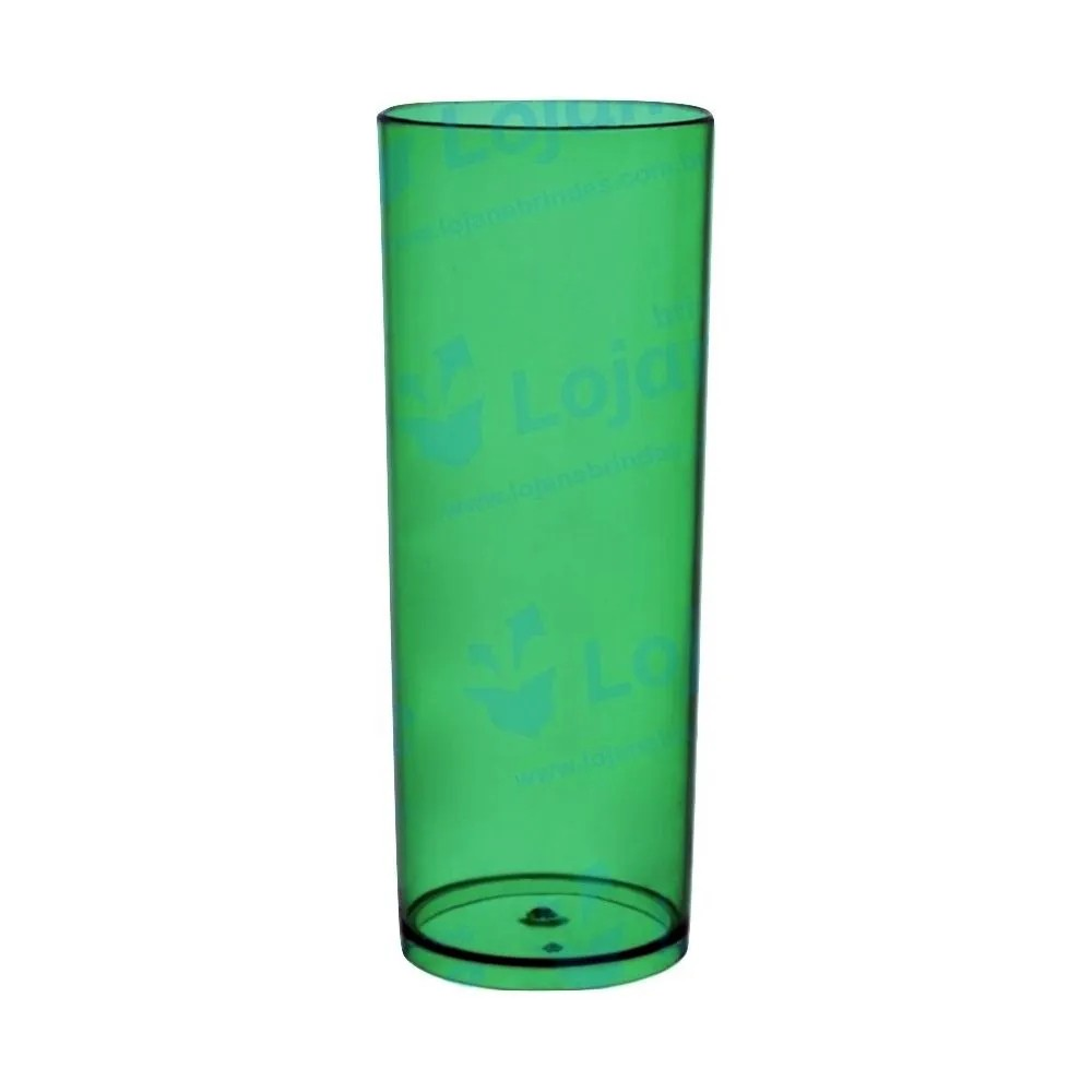 Copo Long Drink 360ml Verde Translucido - Descarfest