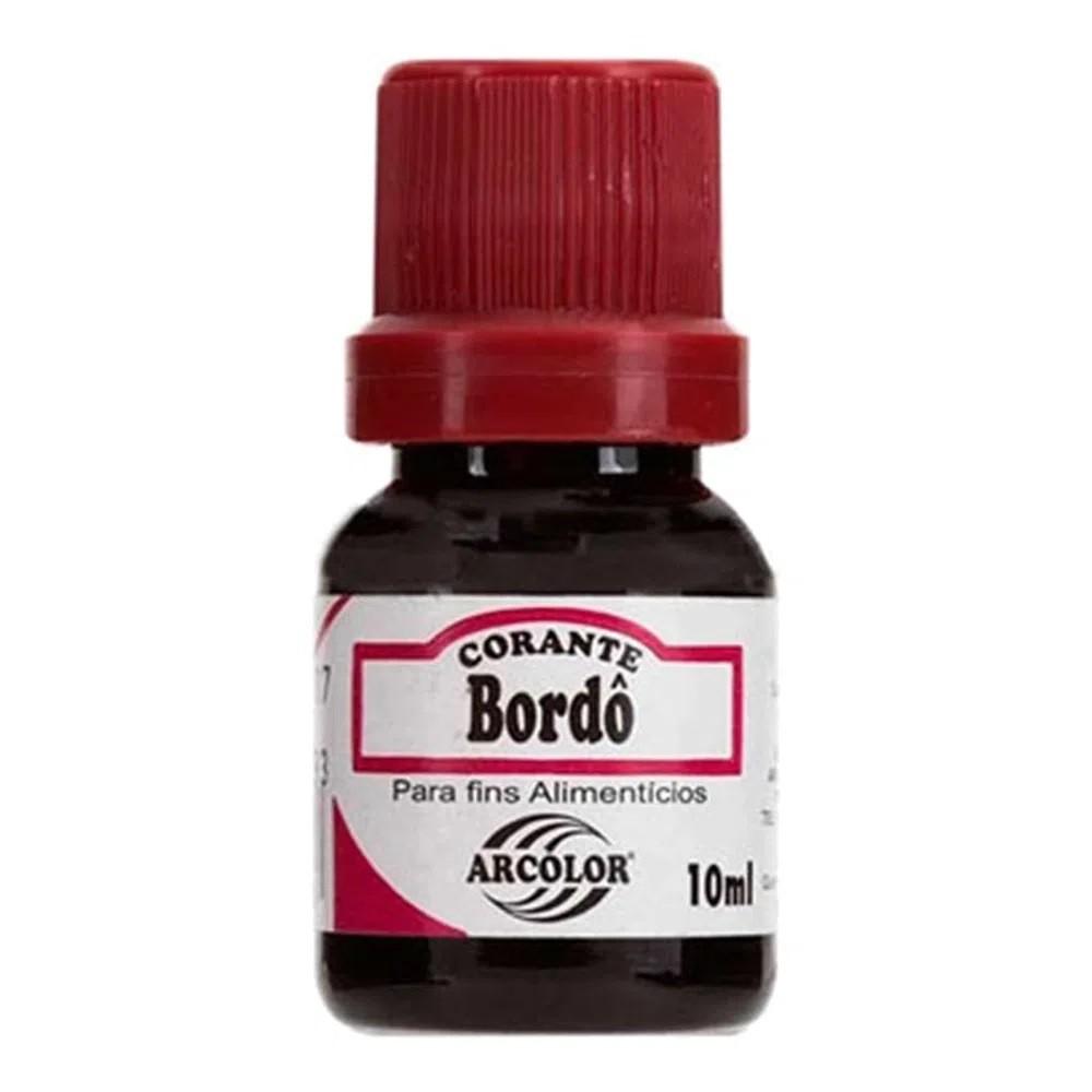 Corante Liquido Vermelho Bordo 10ml - Arcolor