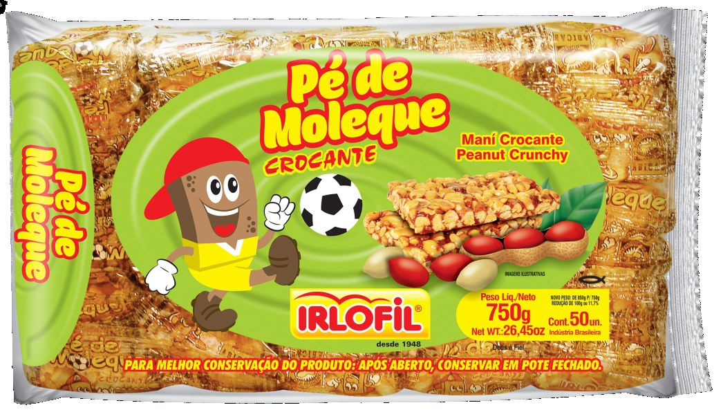 Doce Pé De Moleque Crocante C/50 Pacote - Irlofil