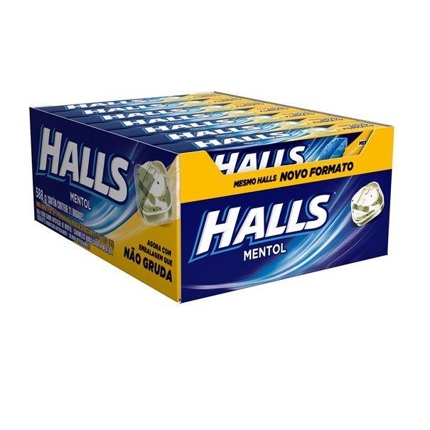Drops Halls Mentol 28gr C/21 - Adams