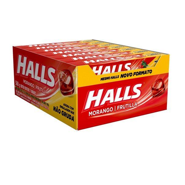 Drops Halls Morango 28gr C/21 - Adams