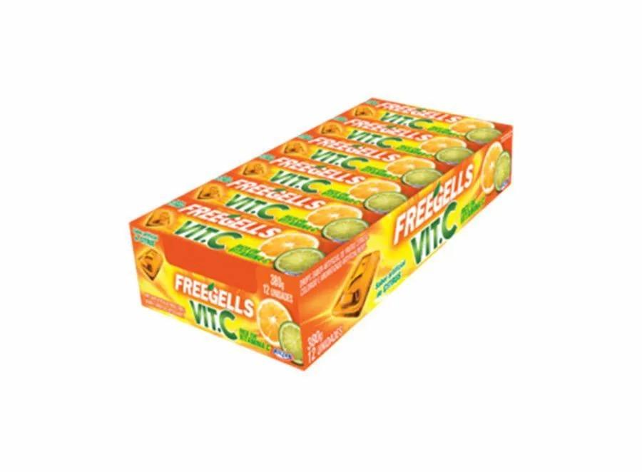 Freegells Drops Citrus Vitamina C c/12 - Riclan