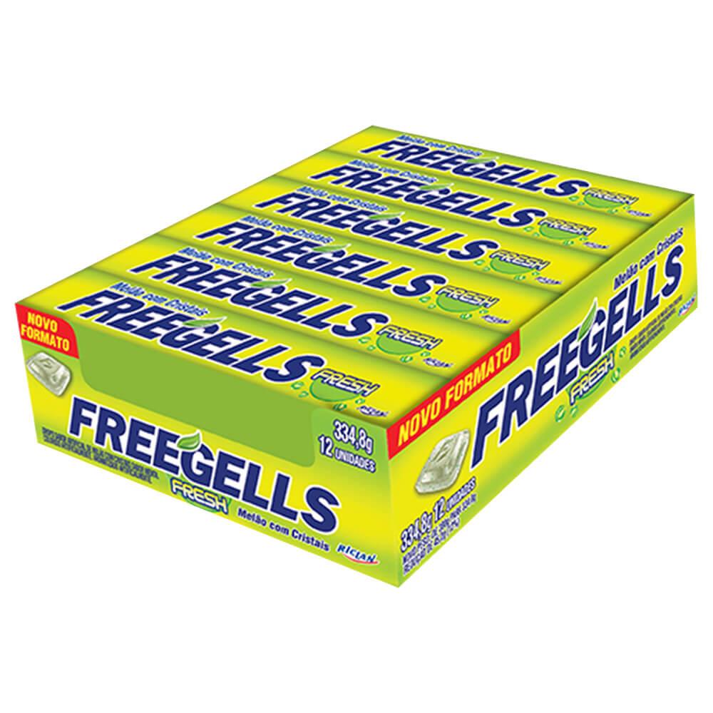 Freegells Drops Fresh Melão c/12 - Riclan