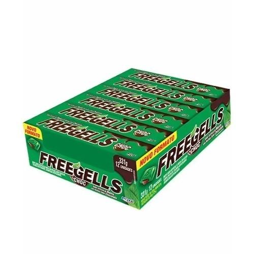 Freegells Drops Menta com Chocolate c/12 - Riclan