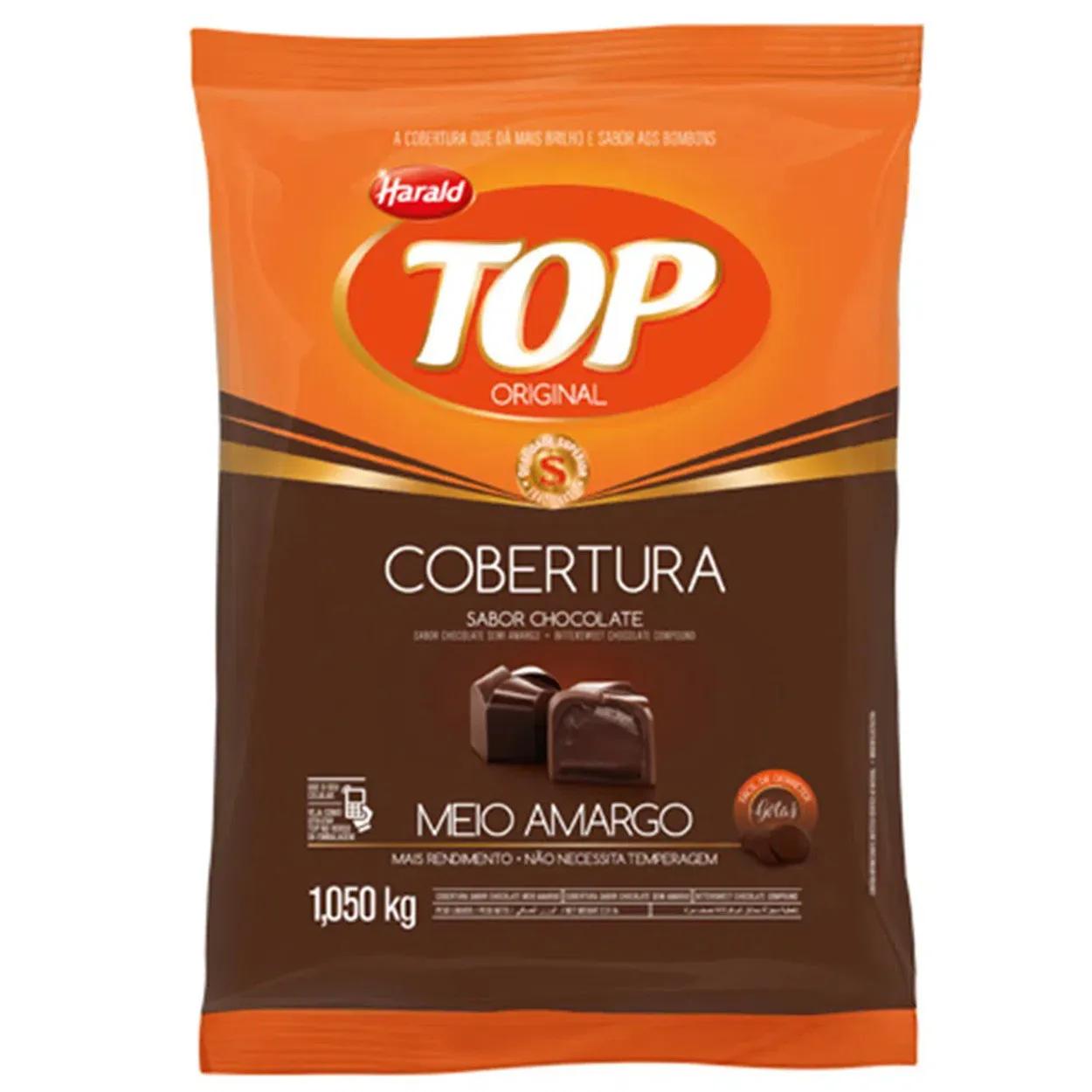 Gotas De Chocolate Fracionado Top Meio Amargo 1,05kg - Harald