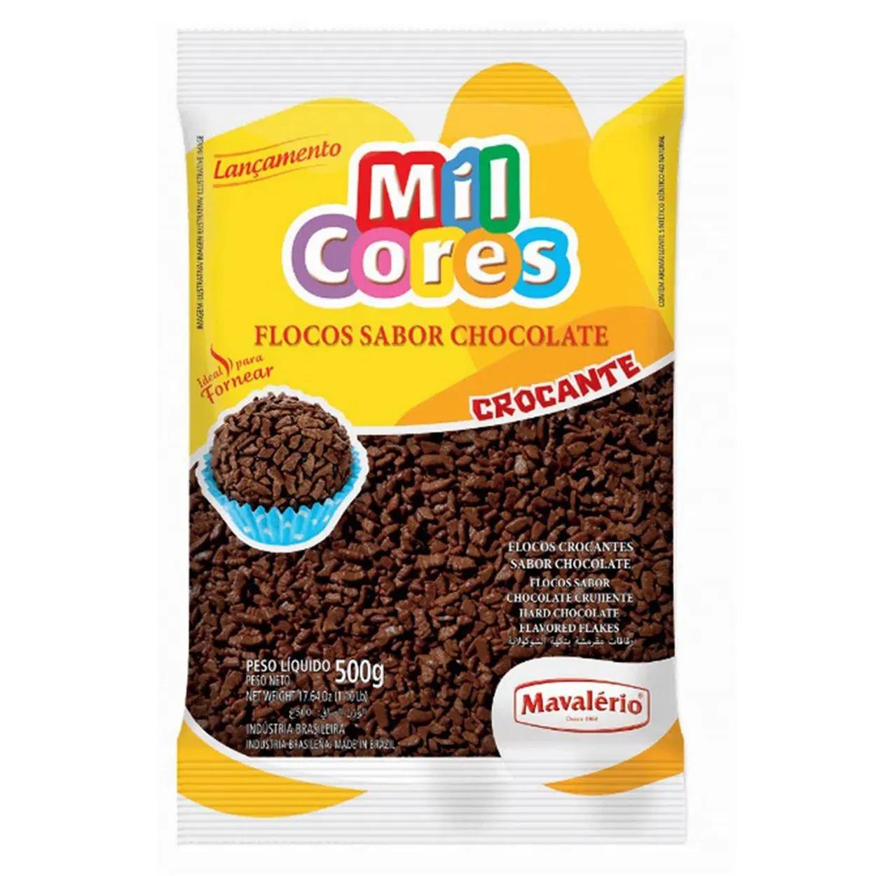 Granulado Confeito Flocos Crocante Chocolate 500g - Mavalério