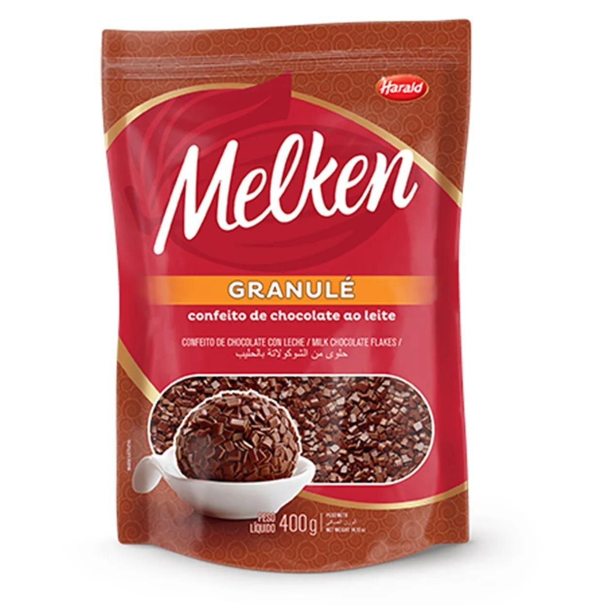 Granulado Granule Chocolate Ao Leite 400g - Melken Harald