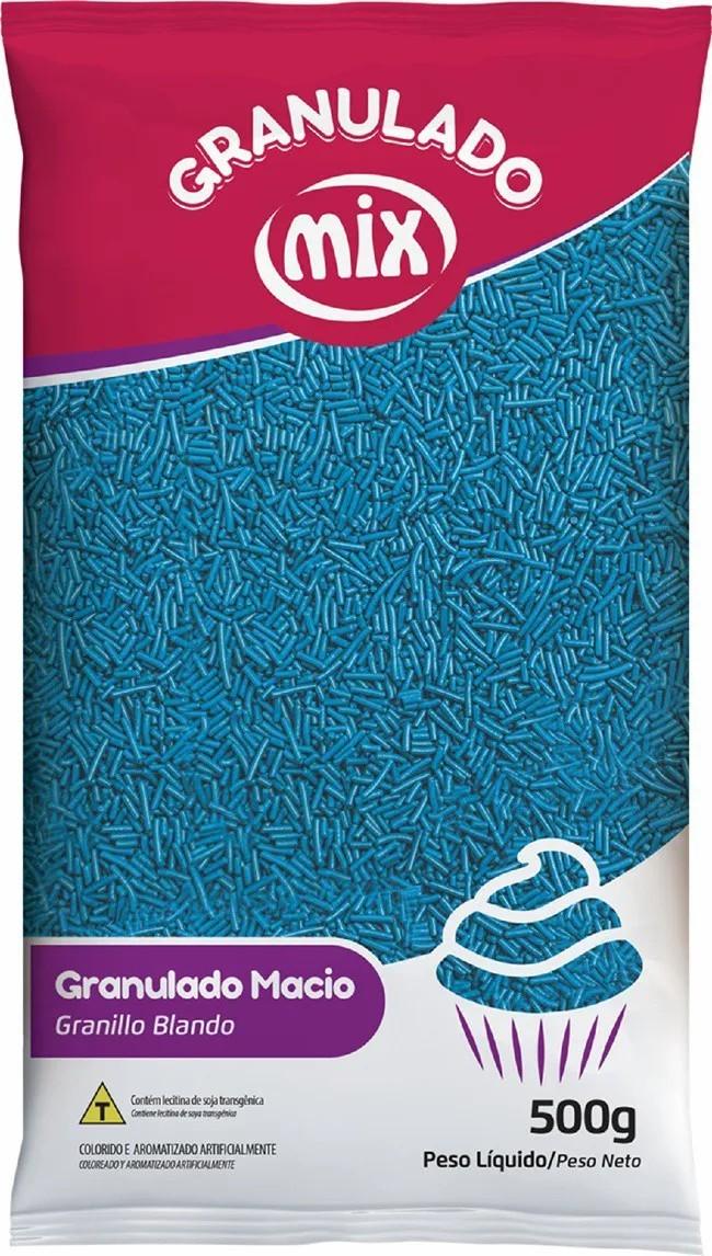 Granulado Macio Azul 500g - Mix Brigadeiro