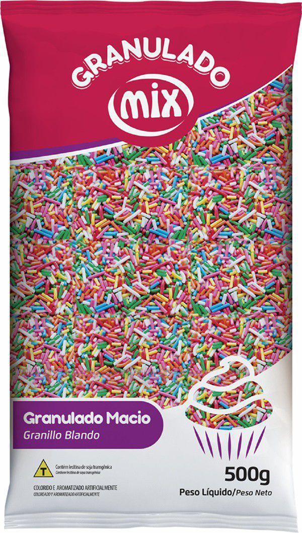 Granulado Macio Colorido Misto 500g - Mix Brigadeiro